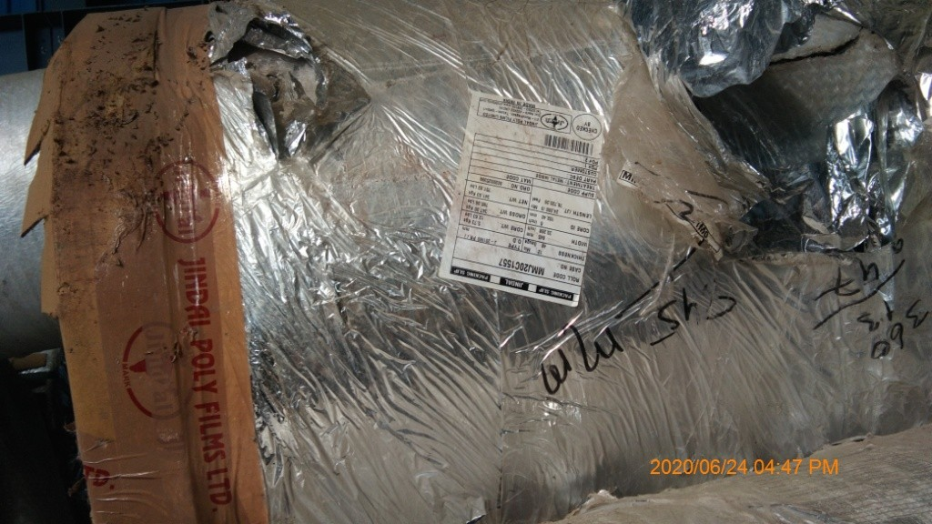 Polyester Metalized Film, Qty- 8225.890 Kgs