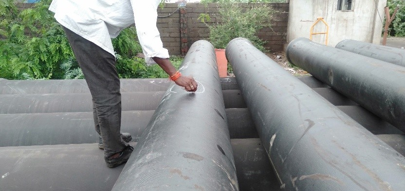 Ductile Iron Spun Pipes-26.175 MT