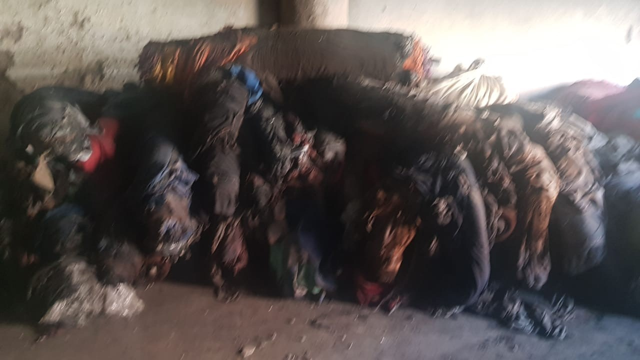 Fire Damaged Knitted Fabric- 11,050 Kg at ludhiyana